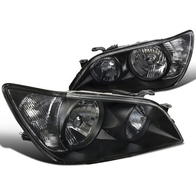 01-05 Lexus IS300 Replacement Crystal Headlights - Black