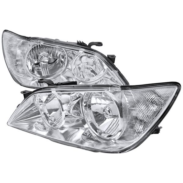 01-05 Lexus IS300 Replacement Crystal Headlights - Chrome