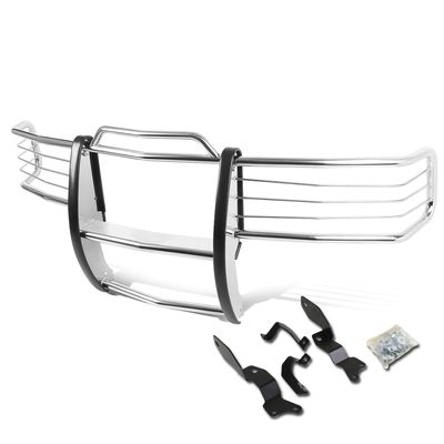 01-06 Chevy Silverado 1500-3500 HD Front Bumper Protector Brush Grille Guard (Chrome)
