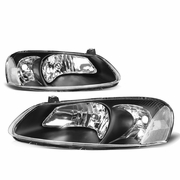 01-06 Chrysler Stratus / Sebring OE-Style Replacement Headlights - Black / Clear