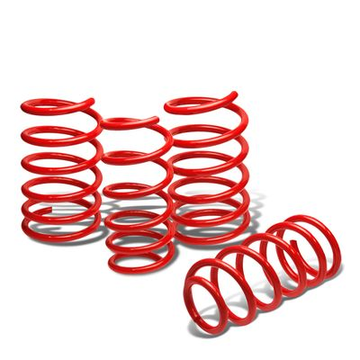 "01-07 Mitsubishi Evo 8 / Viii 1.9""Drop Suspension Lowering Springs - Red"