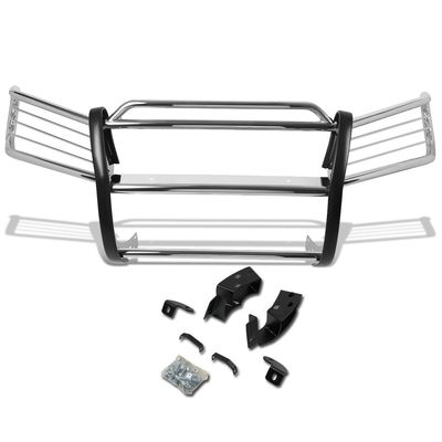 01-07 Toyota Highlander XU20 Front Bumper Protector Brush Grille Guard (Chrome)