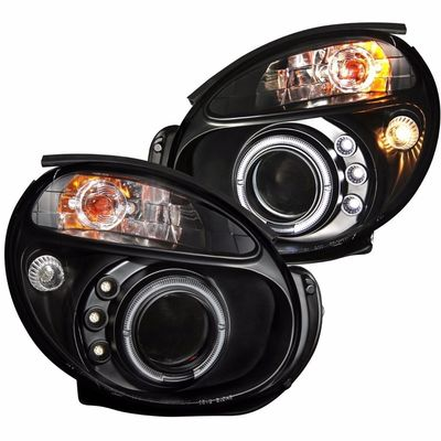02-03 Subaru Impreza / WRX Angel Eye Halo Projector Headlights - Black
