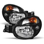 02-03 Subaru Impreza WRX  / Outback Crystal Replacement Headlights - Black