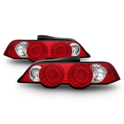 Spyder 02-04 Acura RSX DC5 JDM Style LED Tail Lights- Red / Clear
