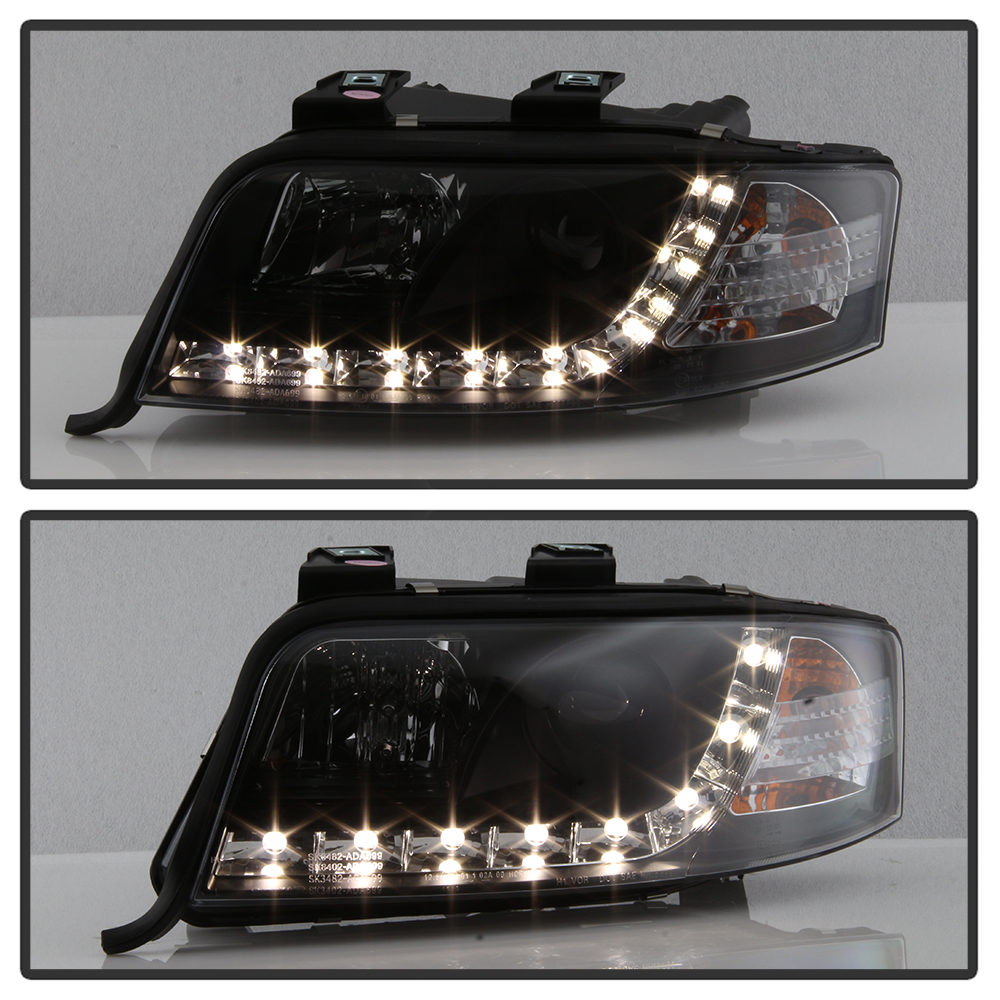02-04 Audi A6 R8 Style LED Strip Projector Headlights