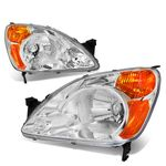 02-04 Honda CR-V Headlight Assembly (Driver & Passenger Side)