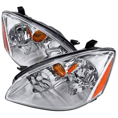 02-04 Nissan Altima 4Dr Sedan Chrome Crystal Headlights