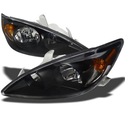 02-04 Toyota Camry Euro Style Crystal Headlights - Black