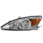 02-04 Toyota Camry LH Left Side OE Style Headlight Lamp Replacement Chrome