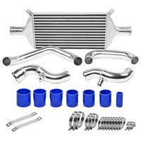 02-05 AUDI A4 B6 1.8T/1.8L BOLT-ON ALUMINUM BAR & PLATE INTERCOOLER + PIPING