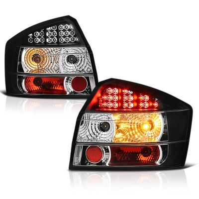 02-05 Audi A4 / S4 4DR Sedan Euro LED Tail Lights - Black ALT-YD-AA402-LED-BK By Spyder