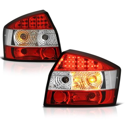 02-05 Audi A4 / S4 4DR Sedan Euro LED Tail Lights - Red / Clear ALT-YD-AA402-LED-RC By Spyder