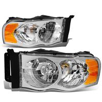 2002-2005 Dodge RAM 1500 2500 3500 Euro Style Crystal Headlights - Chrome