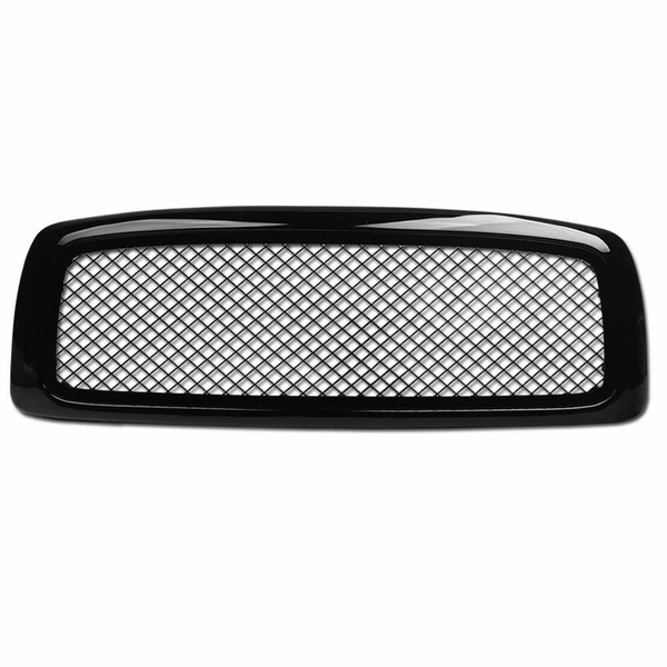02-05 Dodge Ram 1500/03-05 2500/3500 Glossy Black Mesh Front Hood Bumper Grill Grille