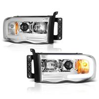 02-05 Dodge Ram 1500 / 03-05 2500 3500 LED Tube Projector Headlights - Chrome
