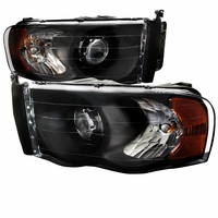 02-05 Dodge RAM 1500 2500 3500 Projector Headlights - Black