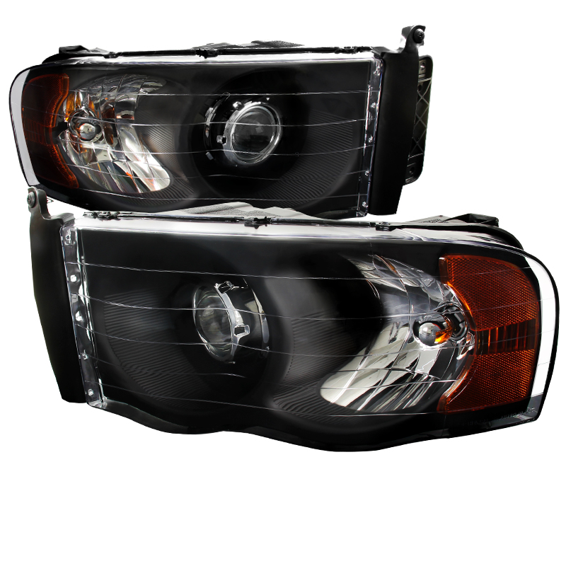 Dodge Ram 1500 2500 3500 Projector Headlights Black Click To Enlarge