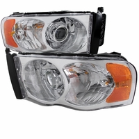 02-05 Dodge RAM 1500 2500 3500 Projector Headlights - Chrome
