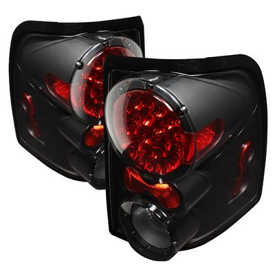 02-05 Ford Explorer Euro Style LED Tail Lights - Black ALT-ON-FEXP02-LED-BK By Spyder