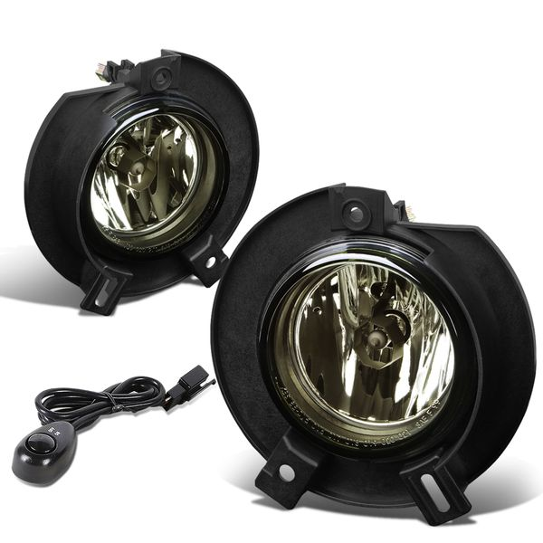 02-05 Ford Explorer U152 Suv Smoked Lens OE Bumper Fog Light Pair+Switch Set