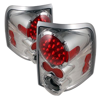 02-05 Ford Exprloer Euro Style LED Tail Lights - Chrome ALT-ON-FEXP02-LED-C By Spyder