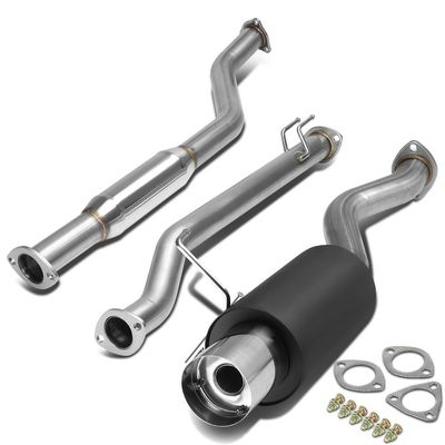 02-05 Honda Civic SI Only Performance Catback Exhaust - Black Muffler / SS Tip