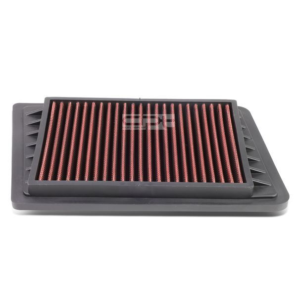 02-05 Jeep Wrangler / Liberty 2.4L Reusable & Washable Replacement High Flow Drop-in Air Filter (Red)