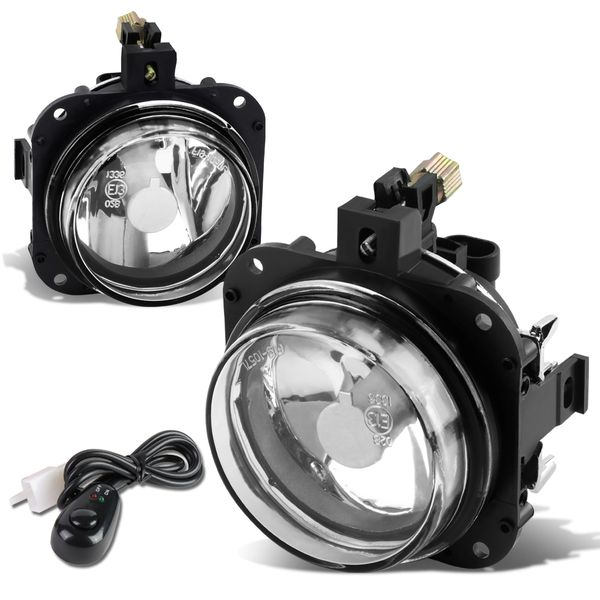 02-05 Mitsubishi Eclipse/04-08 Galant Clear Lens Oe Bumper Fog Light Lamp Pair+Switch
