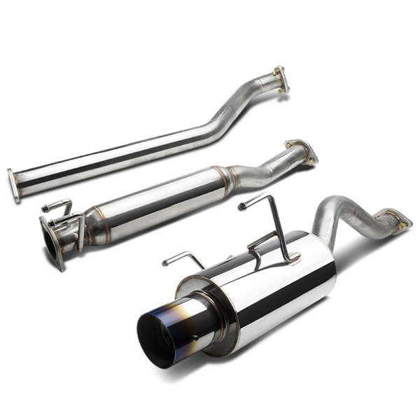 02-06 Acura RSX DC5 Non-S 4-inch Burnt Tip Muffler Catback/Cat Back Exhaust System