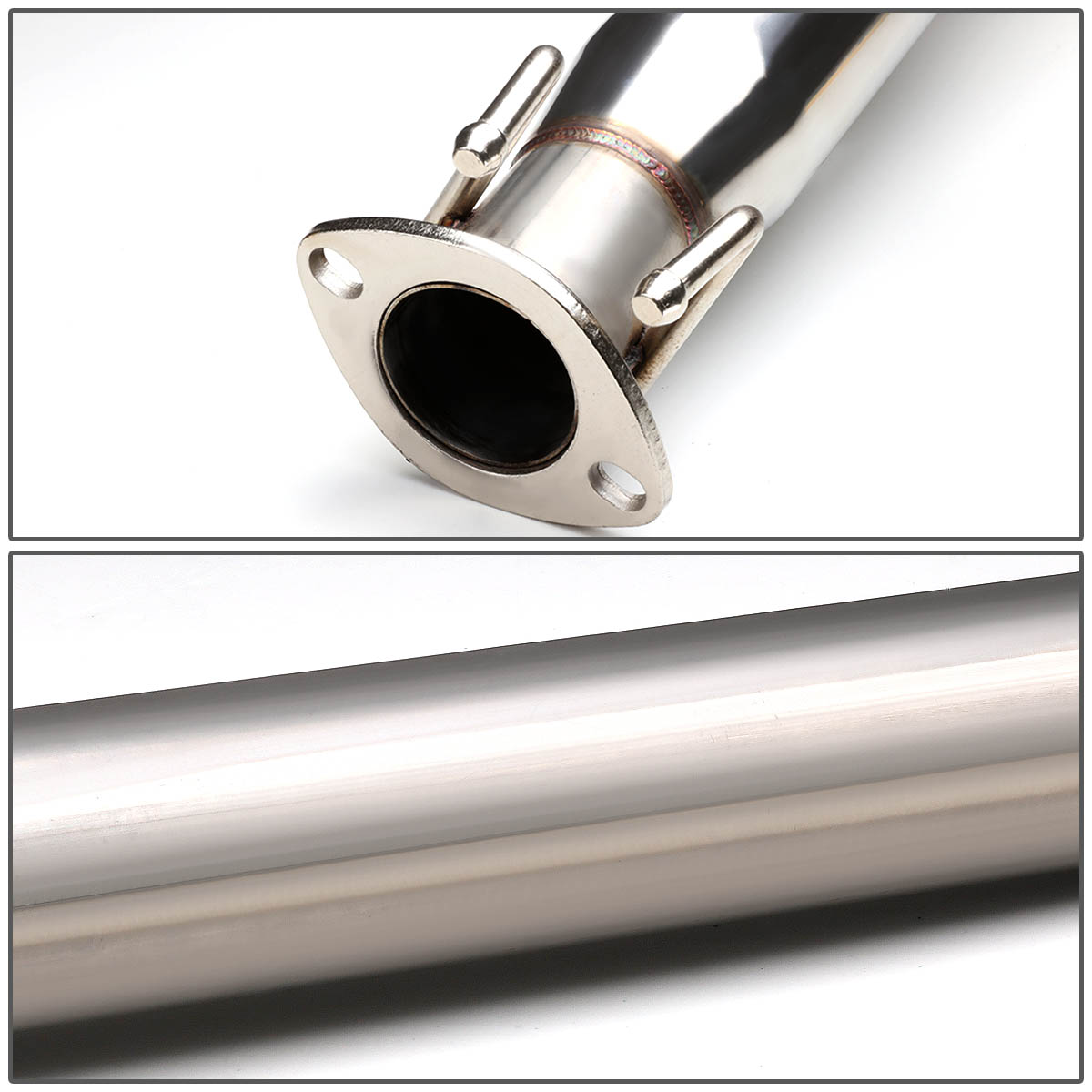 """02-06 Acura RSX Type-S Stainless Steel 4"""" Tip Oval Muffler"""