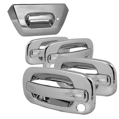02-06 AVALANCHE 4DR CHROME TAILGATE+DOOR HANDLE COVERS