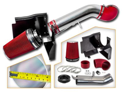02-06 Cadillac Escalade V8 5.3L / 6.0L Heat Shield Air Intake - Red
