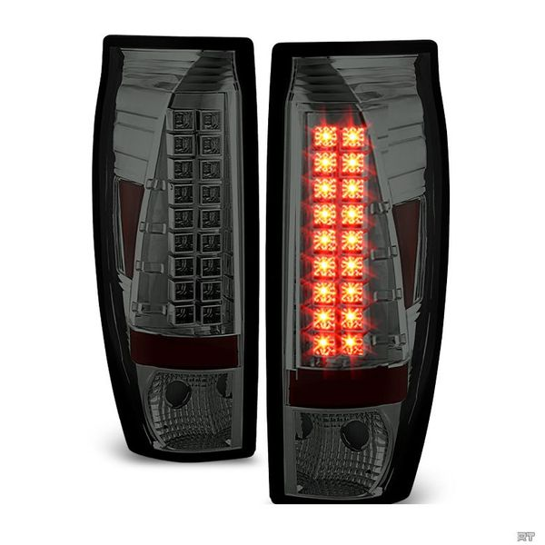 02-06 Chevy Avalanche Euro Style LED Tail Lights - Smoked ALT-YD-CAV02-LED-SM By Spyder