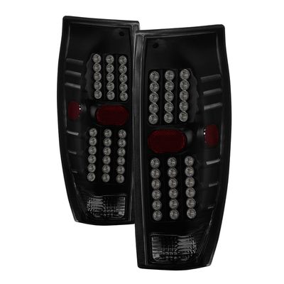 02-06 Chevy Avalanche LED Tail Lights - Black Smoked