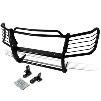 02-06 Chevy Avalanche with Cladding Front Bumper Protector Brush Grille Guard (Black)