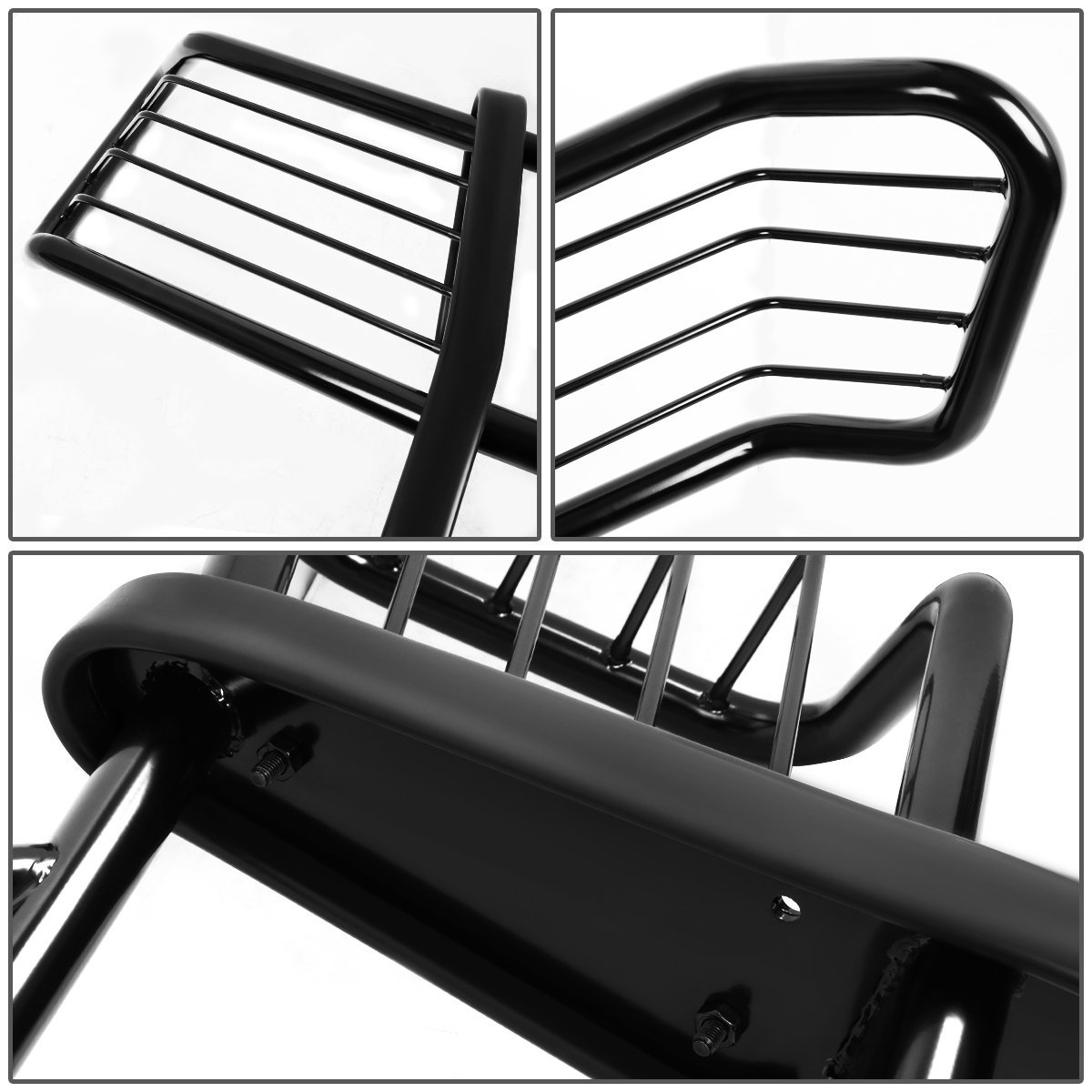 Black For Chevy Avalanche with Cladding Front Bumper Protector Brush Grille Guard
