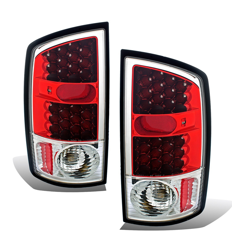 02 06 Dodge Ram 1500 2500 3500 Euro Led Tail Lights Red Click To Enlarge