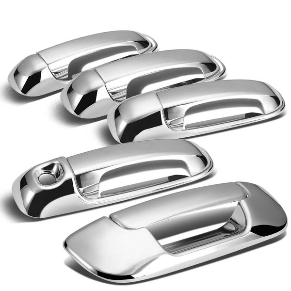 2002-2008 Dodge Ram 4DR Tailgate+Door Handle Cover (Chrome)