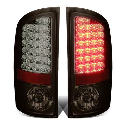 02-06 Dodge Ram 3rd Gen Pair of Chrome Housing Smoked Lens LED Brake Tail Lights