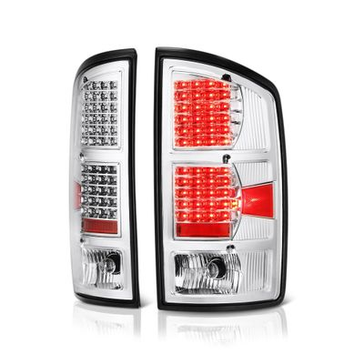 02-06 Dodge Ram Pickup Chrome G2 LED Tail Lights