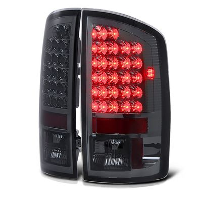 02-06 Dodge Ram Pickup Euro LED Tail Lights - Smoked ALT-YD-DRAM02-LED-SM By Spyder