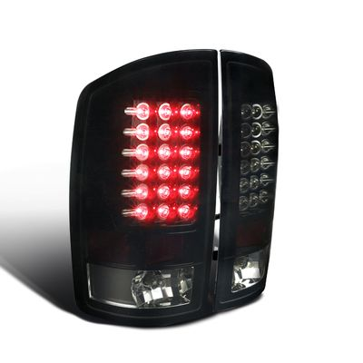 02-06 Dodge Ram Pickup Truck Euro LED Tail Lights - Black / Smoked