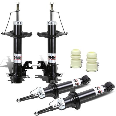 02-06 Nissan Sentra B15 Front+Rear 4pcs Shock Absorbers (Black)