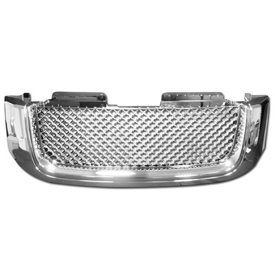 02-08 GMC Envoy Honeycomb Mesh Badgeless Front Sport Grill / Grille - Chrome