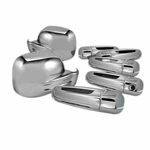 02-07 Jeep Liberty 4Door Chrome Door Handle + Mirror Covers + Tail Gate Cover- Set