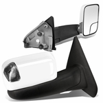 02-08 Dodge RAM 1500 / 03-09 2500-3500 Manual Adjust / Amber LED Signal Towing Side Mirrors - Chrome