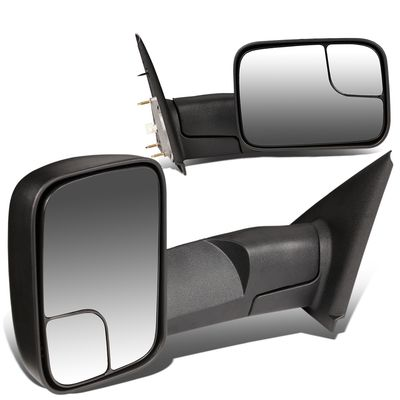 02-08 Dodge Ram 1500 / 03-09 2500 3500 [Manual Adjust / Non-Heated] Telescoping Towing Mirror