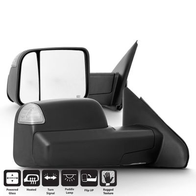 02-08 Dodge RAM 1500 / 03 -09 2500 3500 Power + Heated Side Towing Mirrors