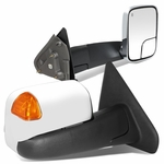 02-08 Dodge Ram 1500 / 03-09 2500 3500 [Power + Heated] Telescoping Chrome Towing Mirrors